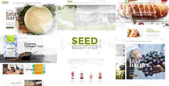 قالب فروشگاه محصولات ارگانیک وردپرس سید