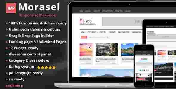 قالب مجله وبلاگ نویسی مورسل html