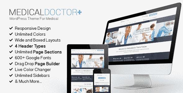قالب تخصصی کلینیک پزشکی مدیکال دکتر ریسپانسیو وردپرس