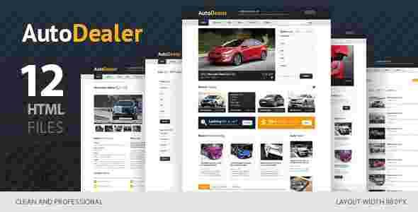 قالب فروشگاه نمایشگاه خودرو ماشین اتو دیلیر html