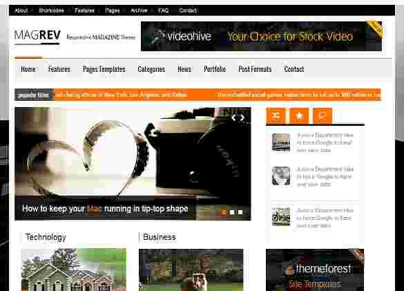 قالب مجله وبلاگ نویسی ماگرو html
