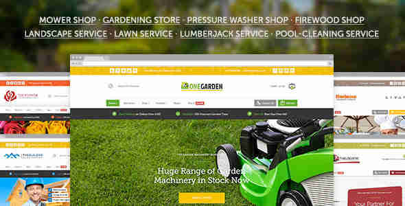 قالب شرکت فروشگاه باغبانی وردپرس 123 گاردن
