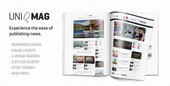 قالب مجله خبری یونی مگ html