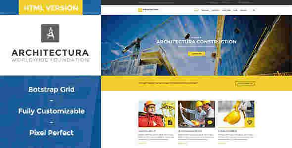 قالب سایت شرکت پیمانکاری ساختمان ارشیتکچرا html