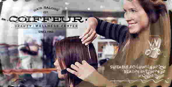 قالب سایت سالن آرایشگری کوفیری وردپرس