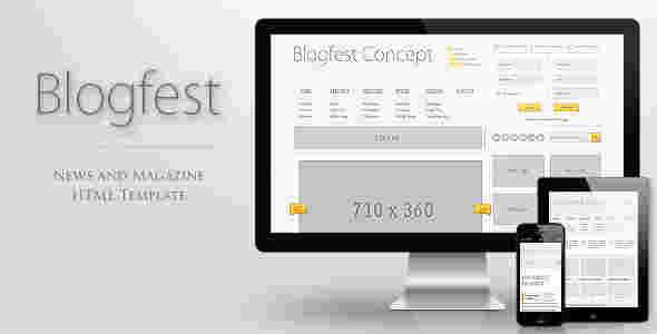 قالب مجله وبلاگ نویسی بلاگ فست html