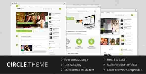 قالب مجله وبلاگ نویسی 2 3 4 ستونه سیرکل html