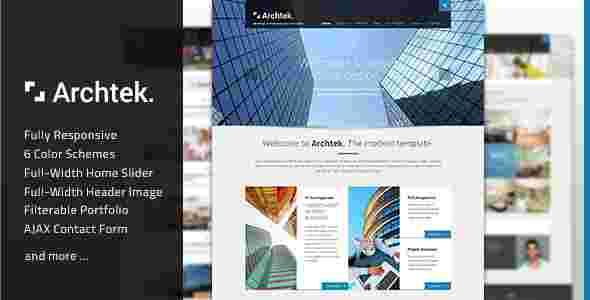 قالب سایت وبلاگ نویسی معماری ارچتک html