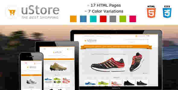 قالب فروشگاه کتانی یو استور html