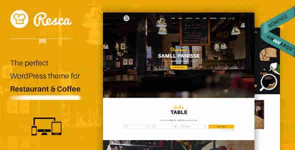 قالب سایت رستوران کافه وردپرس RTL رسکا