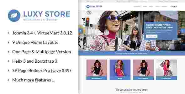 قالب سایت فروشگاهی جوملا RTL وینا لوکسی