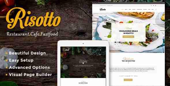 قالب سایت رستوران وردپرس RTL ریسوتو