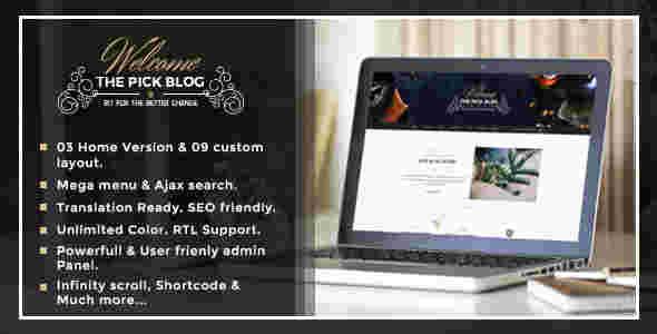 قالب زیبا وبلاگ نویسی وردپرس RTL پیک
