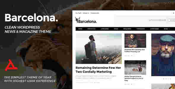 قالب مجله وبلاگ نویسی وردپرس RTL بارسلونا