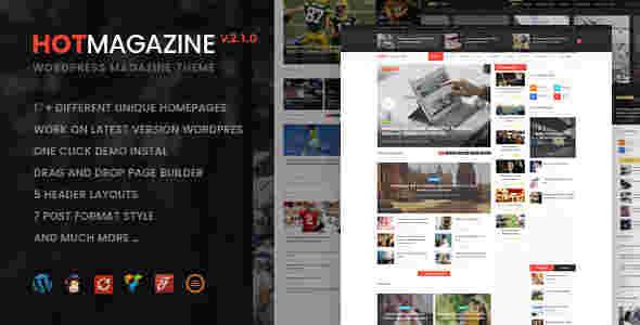 قالب مجله خبری وردپرس RTL هات مگزین