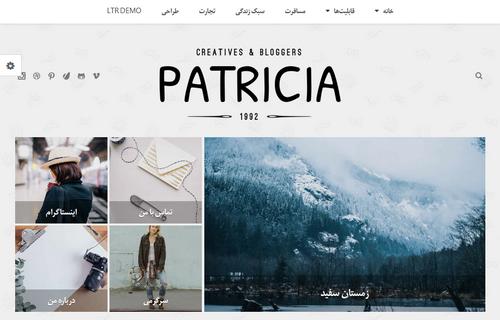 قالب سئو شده وبلاگ نویسی وردپرس RTL پاتریشیا