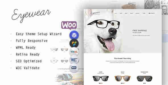 قالب فروشگاه عینک وردپرس ایویر