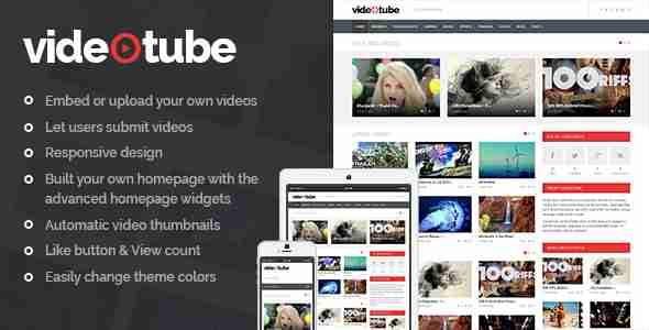 قالب سایت مجله فیلم ویدئو وردپرس RTL ویدئو تویوپ