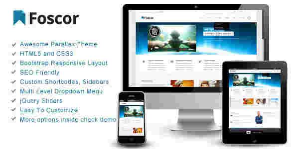 قالب شرکتی وبلاگ نویسی فوسکور html