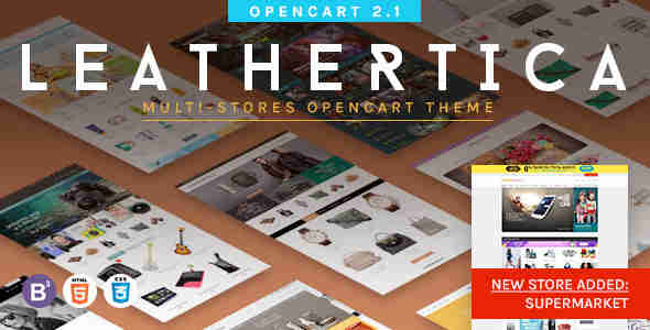 قالب فروشگاهی اوپن کارت RTL لیدرتیکا