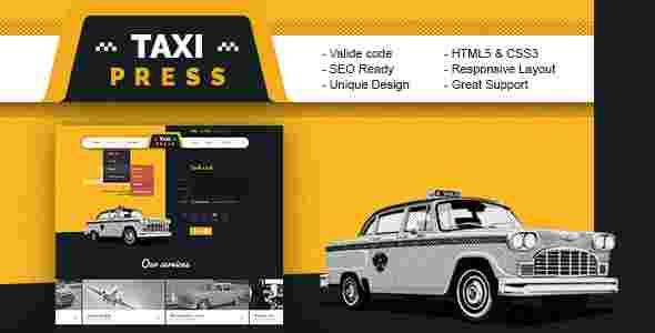 قالب آژانس کرایه اتومبیل html تاکسی پرس
