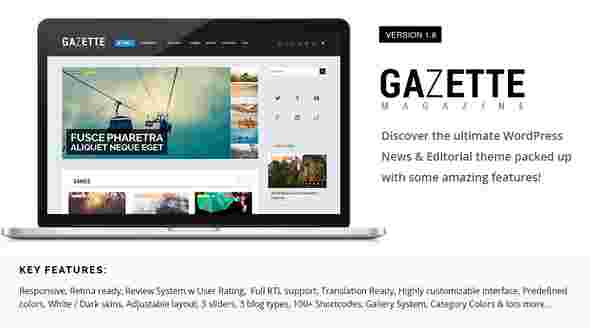 قالب مجله وبلاگ نویسی گازیته html