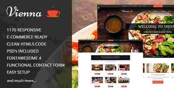 قالب رستوران غذاخوری حرفه ای html وینا