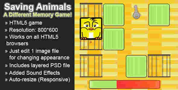 قالب بازی انلاین محافظت از حیوانات html