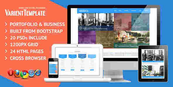 قالب سایت تجاری وبلاگ نویسی وارینت html