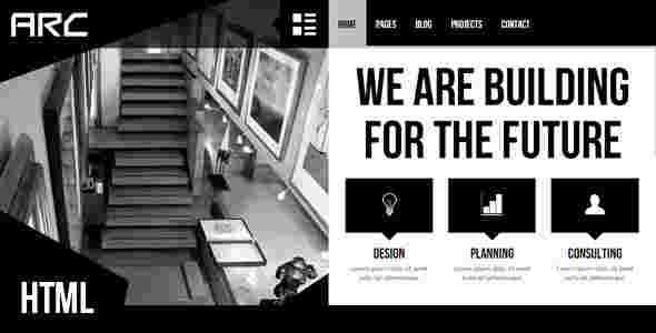 قالب سایت تجاری وبلاگ نویسی معماری ارس html