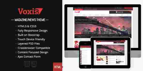 قالب مجله وبلاگ نویسی وکیس html