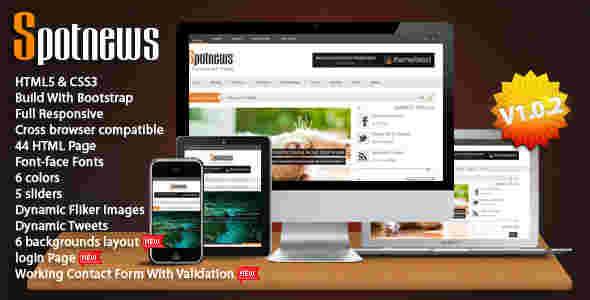 قالب سایت مجله خبری پیسکون html