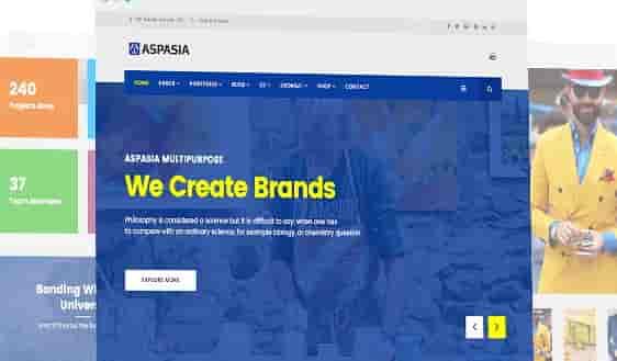 قالب سایت برند شرکت جوملا اسپاسیا