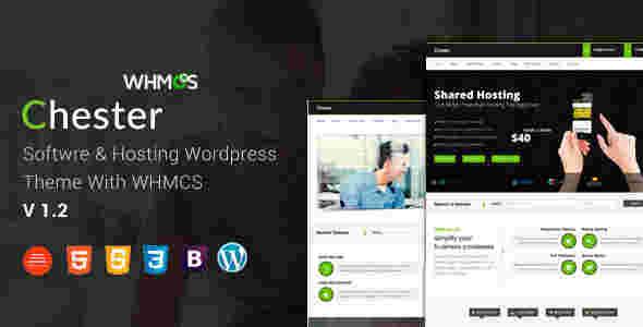 قالب سایت تجاری طراحی هاستینگ WHMCS چستر وردپرس