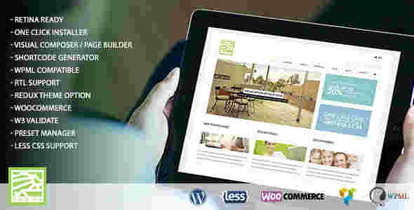 قالب دکور سایت طراحی معماری داخلی همراه ووکامرسی وردپرس