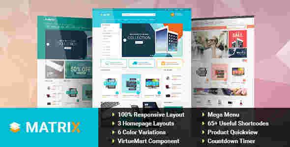 قالب سایت فروشگاهی جوملا ماتریکس