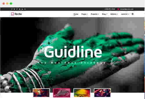 قالب سایت شرکت جوملا رویبه