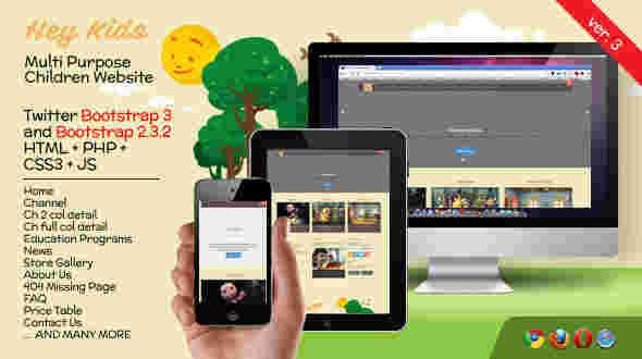 قالب سایت تجاری وبلاگ نویسی کودکان هی کیدی HTML