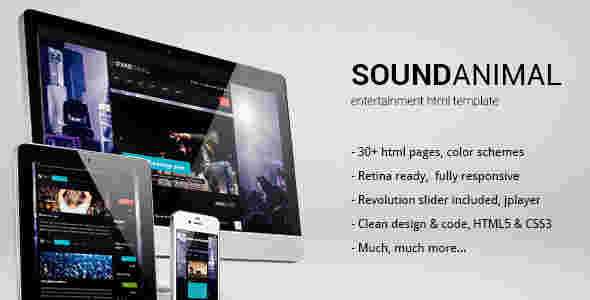 قالب مجله دانلود موزیک آهنگ سوند انیمال html