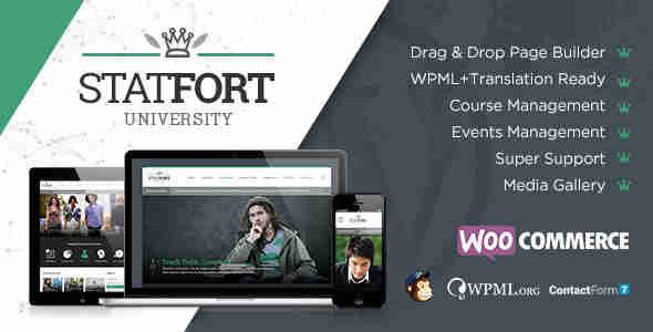 قالب سایت آموزشگاه خصوصی وردپرس استات فورت