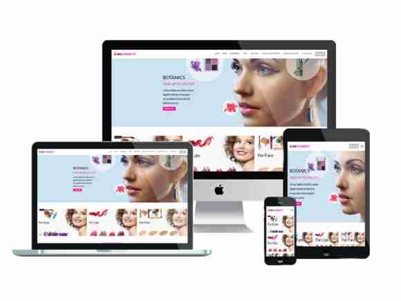 قالب سایت فروشگاه برند لوازم آرایشی وردپرس دبلیو اس
