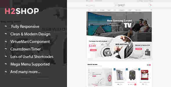 قالب سایت فروشگاه جوملا اچ 2 شاپ