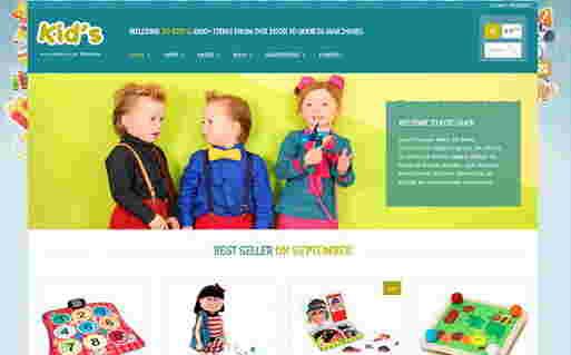 قالب سایت فروشگاه عروسک وردپرس کید شاپ