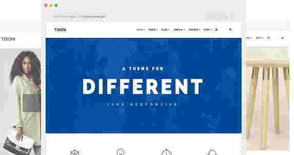 قالب سایت شرکتی فروشگاهی جوملا تیکسون