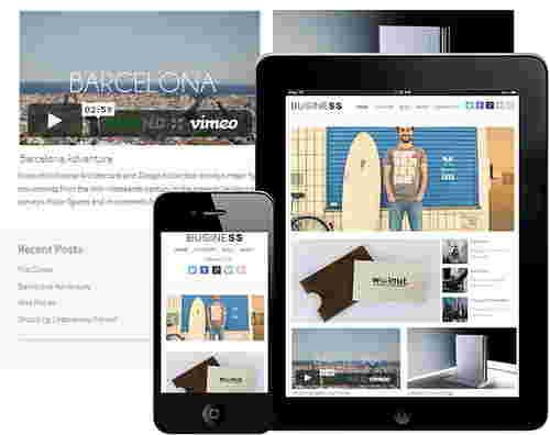 قالب سایت شخصی تجاری بیزنس وردپرس
