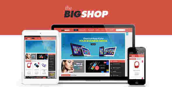 قالب سایت فروشگاهی ووکامرسی بیگ شاپ وردپرس