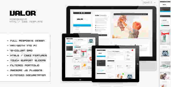 قالب شرکتی وبلاگ نویسی والور 4 ستونه html