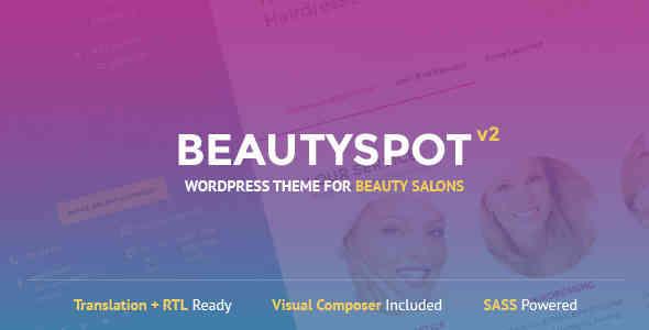 قالب سایت فروشگاه لوازم آرایشی وردپرس بیوتی اسپات