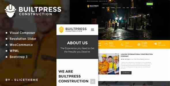 قالب سایت پیمانکاری ساخت ساز وردپرس بولت پرس