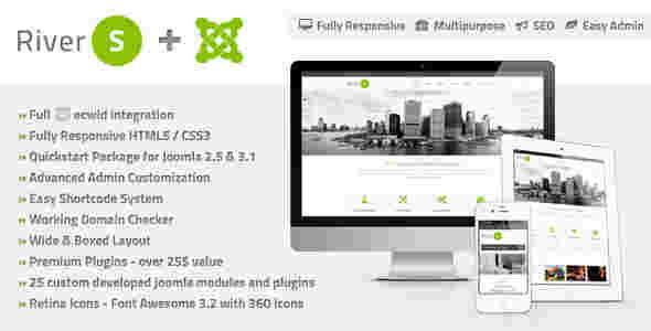 قالب چند منظوره شرکتی تجاری ریورس جوملا 2.5 تا 3